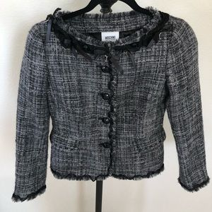 MOSCHINO CHEAP&CHIC Tweed Jacket w 🔑 Details Sz 6